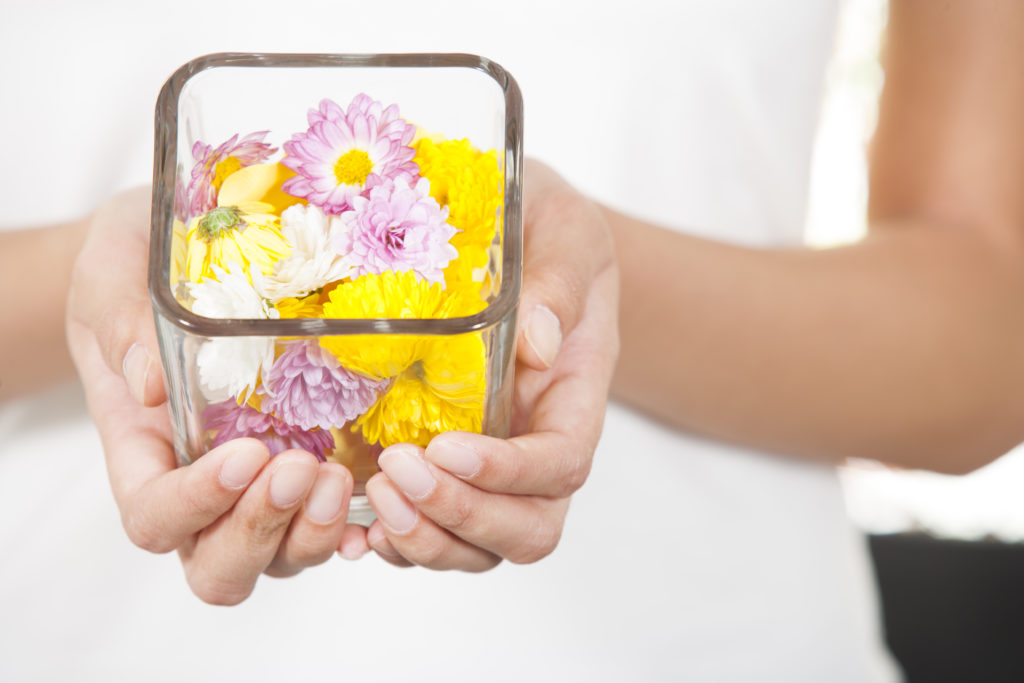Gather up some flowers to dry and press.